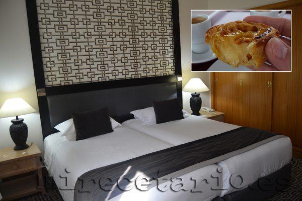 Hotel Mundial y pastelito de nata portugués