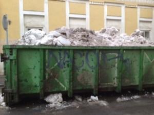 Container sneeuw