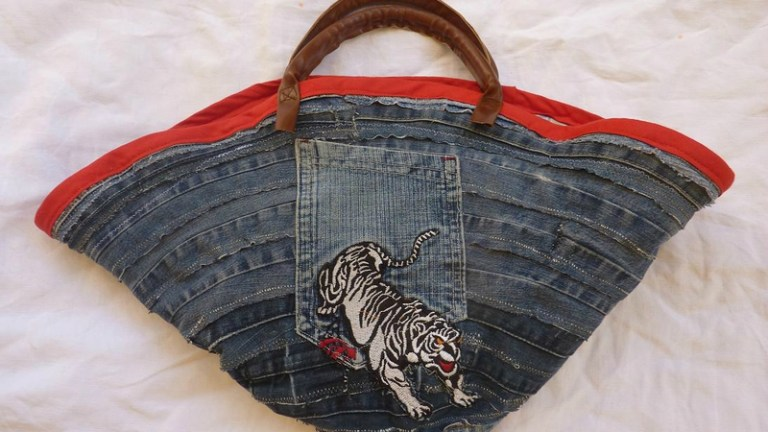 Un sac cabas récup' de récup'