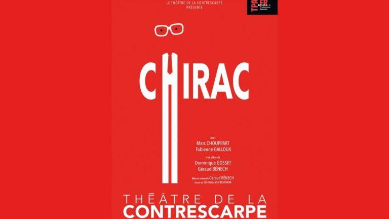 affiche de Chirac au théâtre de la contrescarpe