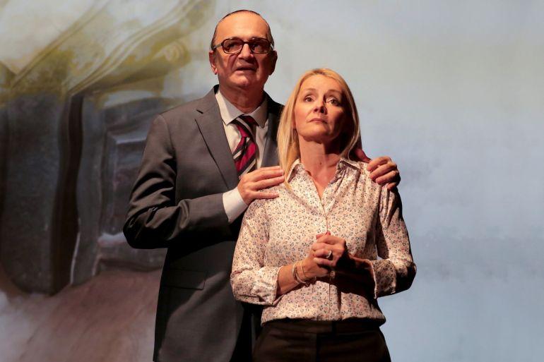Marc Chouppart (Chirac) et Fabienne Galloux (Valérie)