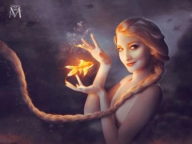 Elsa with Goldfish