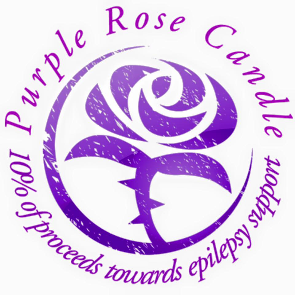 Purple Rose Candle
