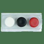 Blanco - Negro - Rojo