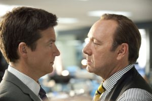 "HB-12292 (L-r) JASON BATEMAN as Nick and KEVIN SPACEY as Dave Harken in New Line Cinema's comedy ""HORRIBLE BOSSES,"" a Warner Bros. Pictures release."