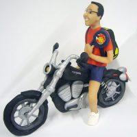 Jugador de Padel y su Harley