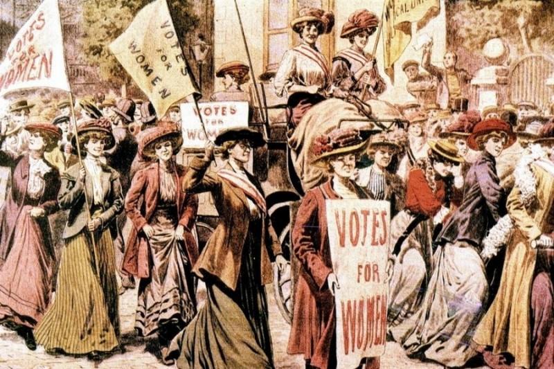 sufragistas mujeres por el voto