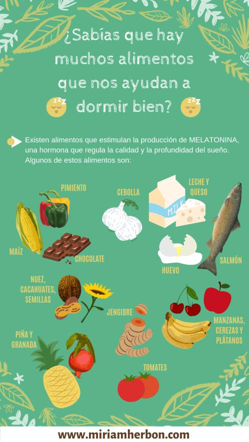 alimentos para dormir infografia food to sleep bilbao miriam dieta comida
