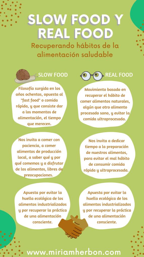 slow food y real food bilbao bizkaia diferencias