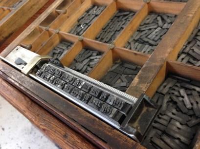 Sarah Bryant, Introduction to Letterpress Printing, London Centre for Book Arts, London, June 18, 2016 (photo: Miriam Jones).