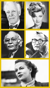 Acting teachers Stanislavski, Adler, Strasberg, Meisner, and Hagen