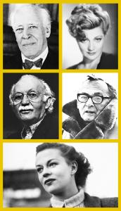 Acting teachers Stanislavski, Adler, Strasberg, Meisner, and Hagen