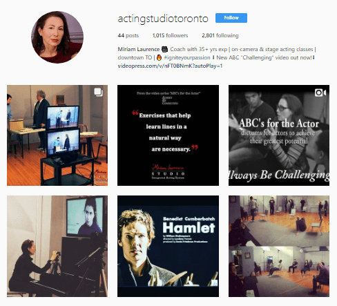 Miriam Laurence Acting Studio Toronto on Instagram