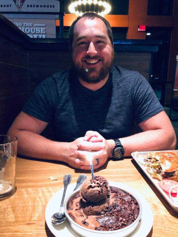 Kyle and birthday cake