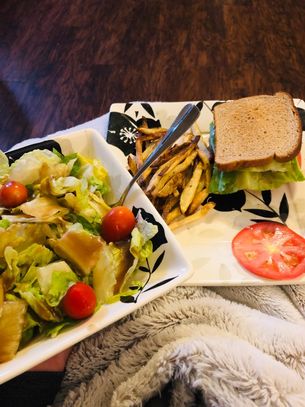 BLTs, Salad, Air Fried Fries