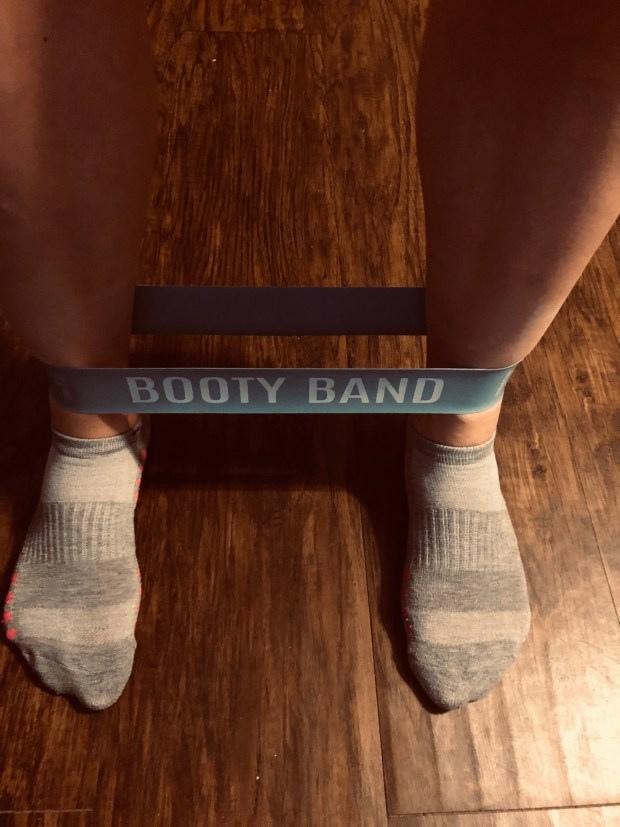 Work out with booty band