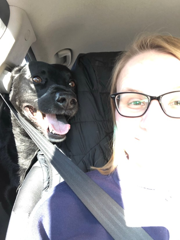 Chance and I in car