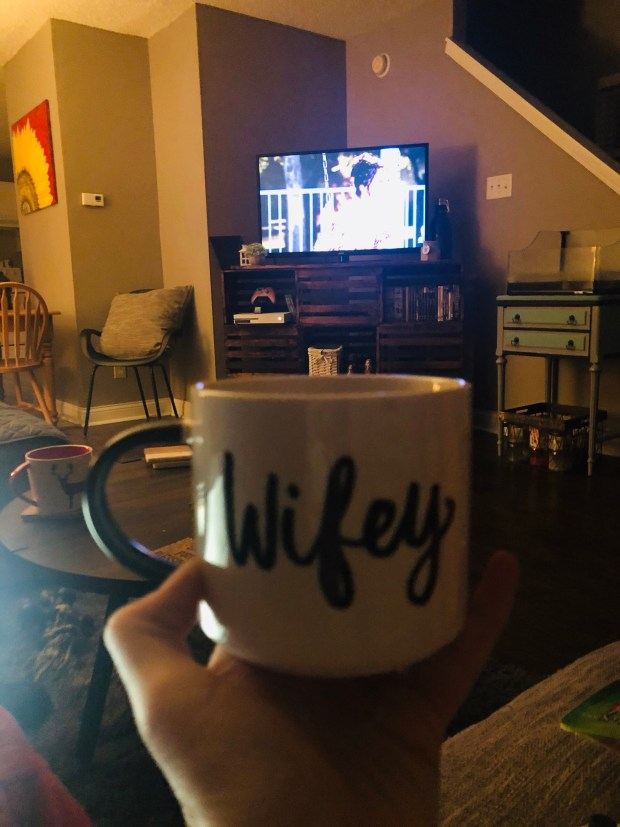 Drinking coffee and watching Make It or Break It