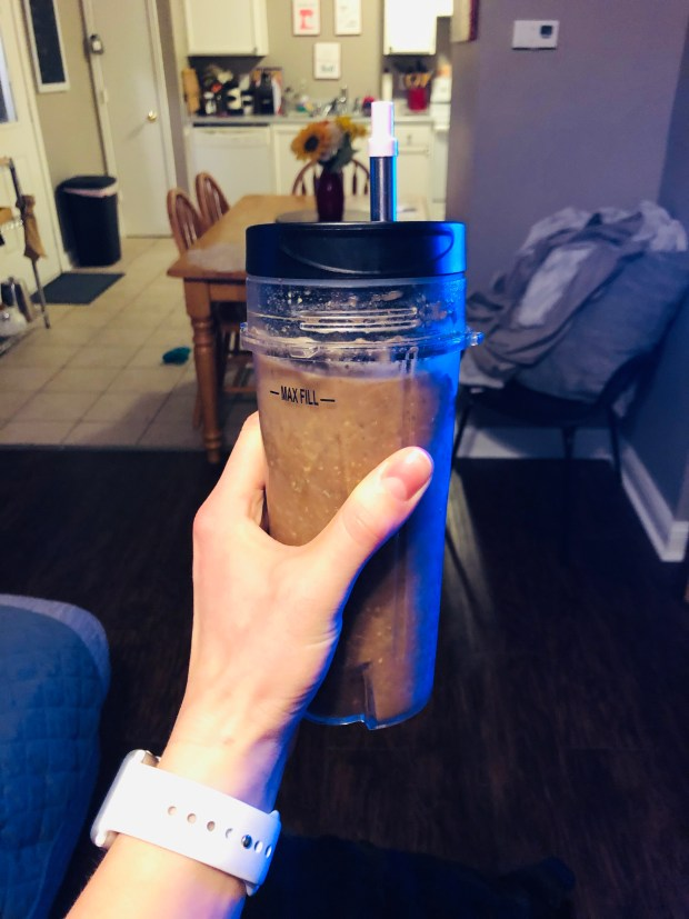 Breakfast smoothie in the morning