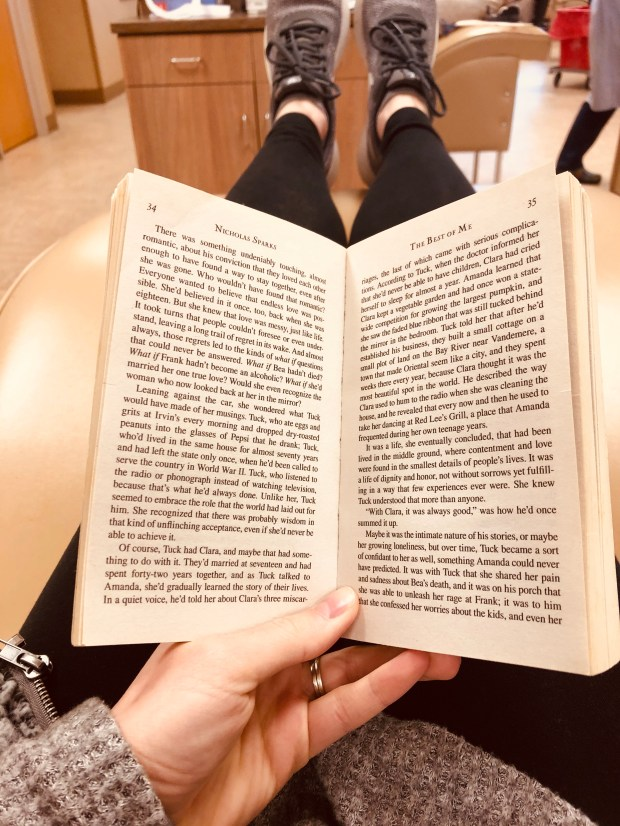 Reading a book while giving plasma