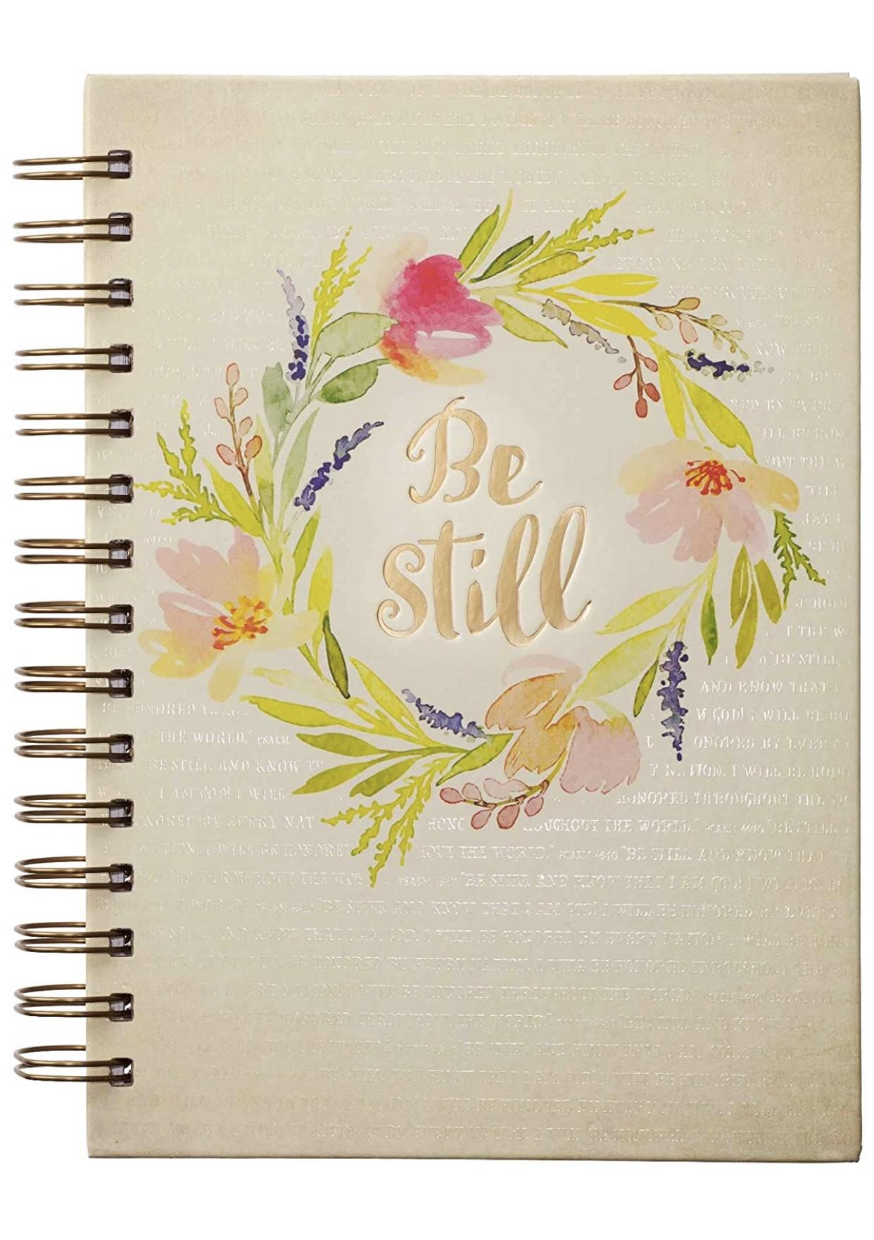 Be Still flowered journal