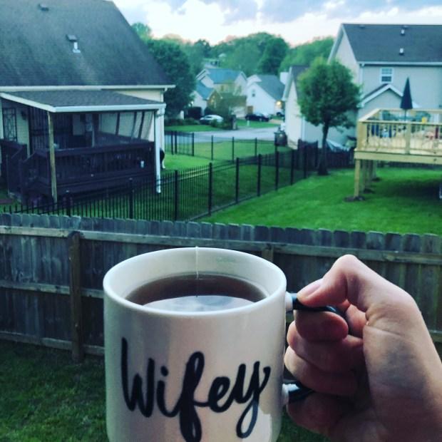Kava tea on porch
