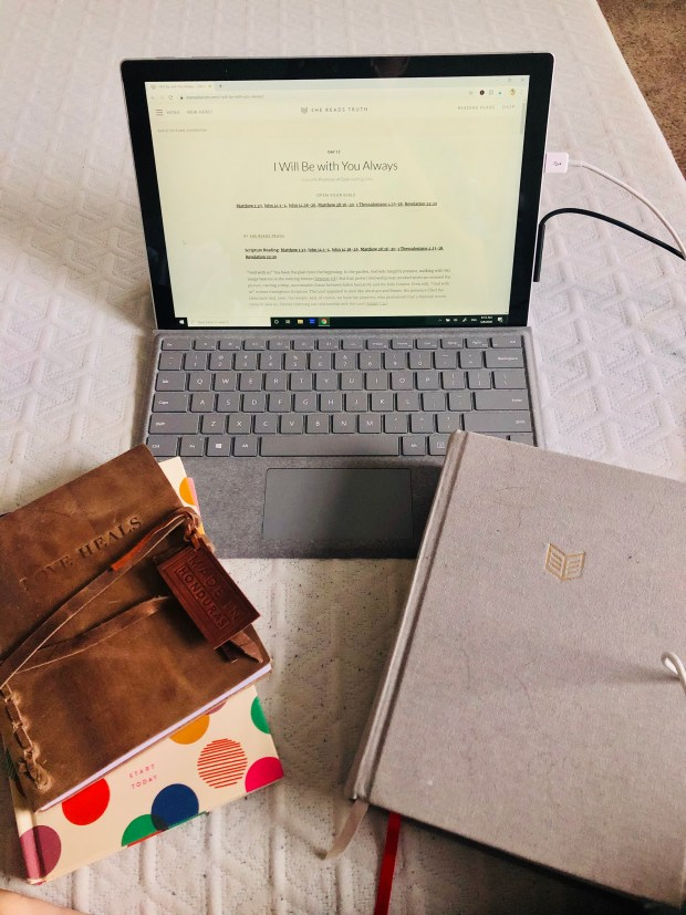 Devotional, bible, journal, and Start Today Journal