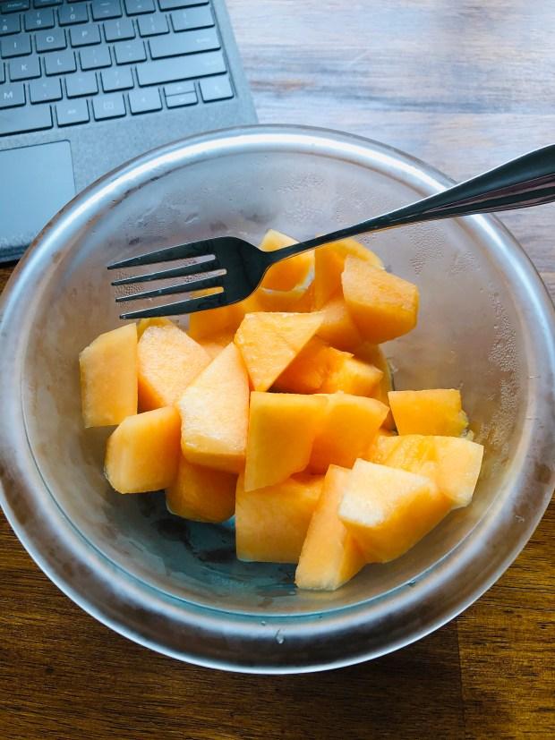 Bowl of cantaloupe