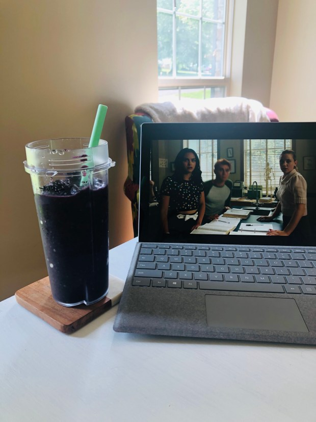 Breakfast smoothie and Riverdale