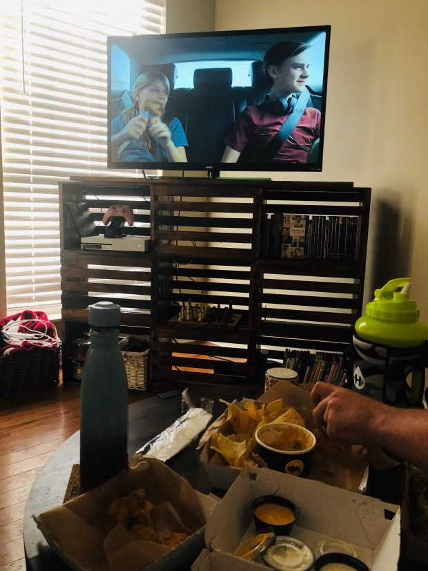 Scary movie and dinner