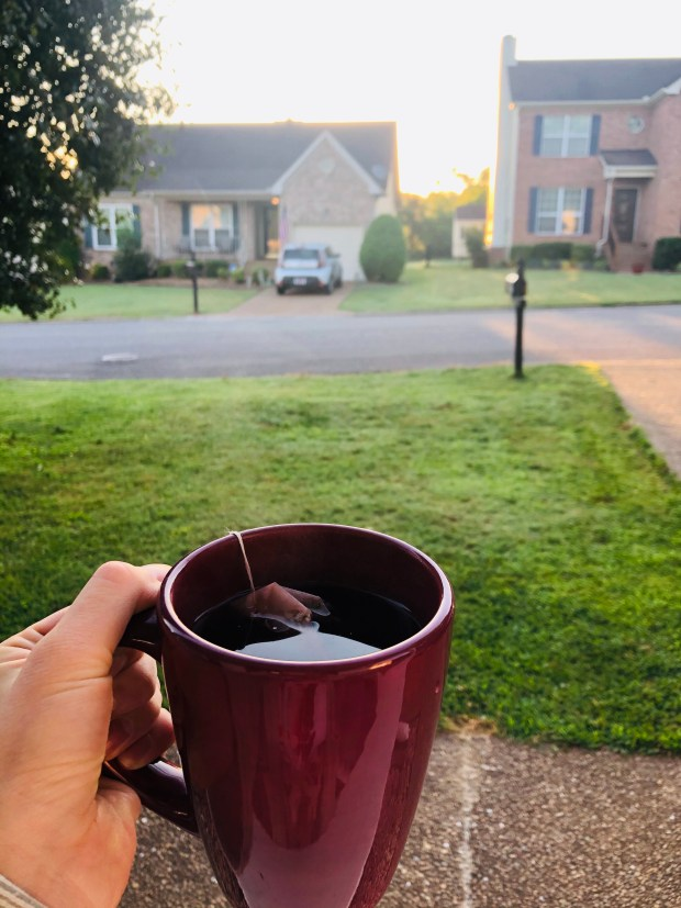 Tea and sunset