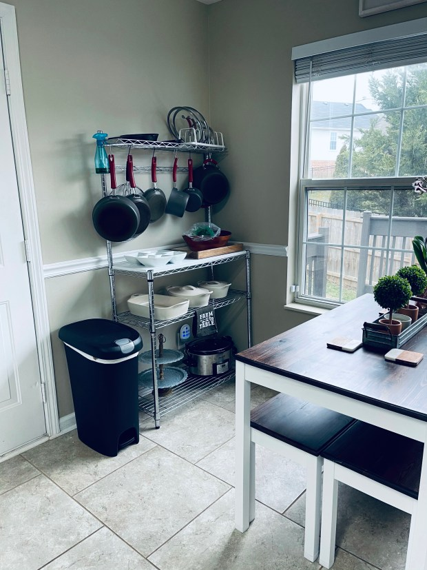 Before picture for kitchen organization