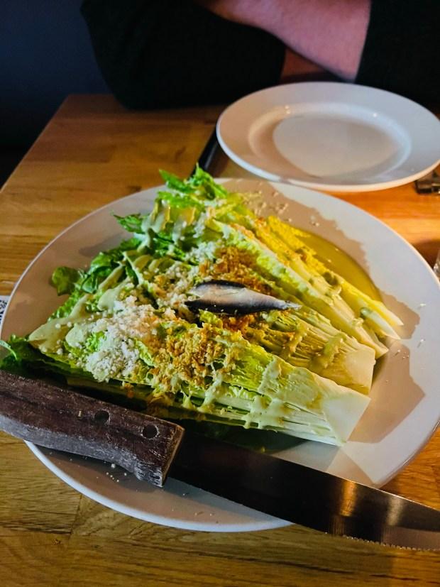 Caesar salad for Valentine's dinner
