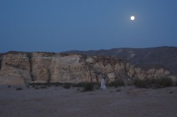April full moon at a Ras al Jinz turtle reserve