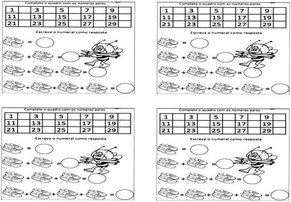Atividade de Matemática-Par e Ímpar