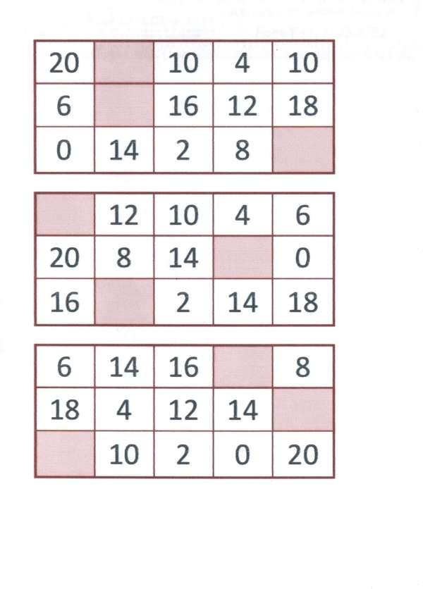 Bingo da Multiplicação-Folha 1