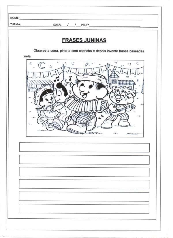 Festa Junina-Produção de Frases Juninas