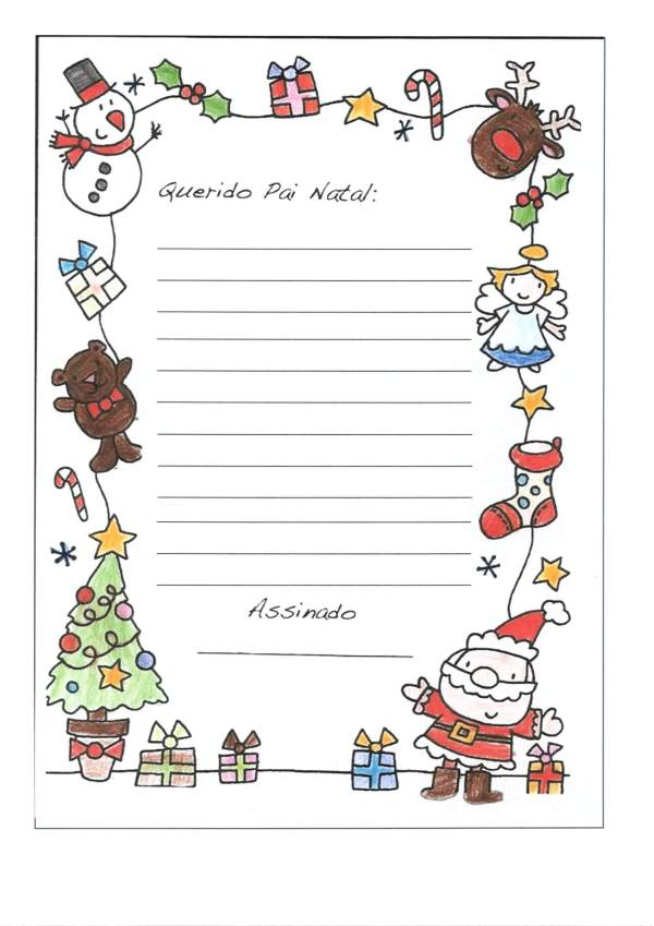 Papel de Carta com o Tema natalino