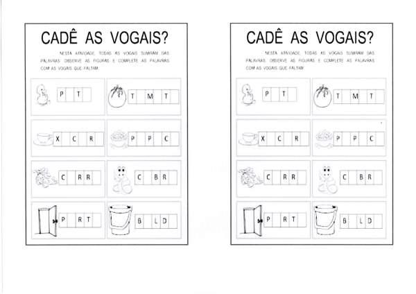 Alfabeto e vogais-Pintar os encontros vocálicos-Folha 2
