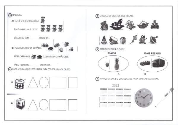 Avaliação 1 ANO-Interpretação-Parte 3-Folha 1