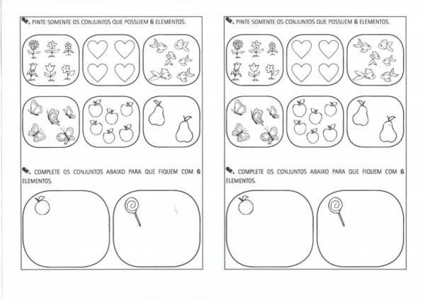 Contagem dos elementos-Contagem de 6 elementos