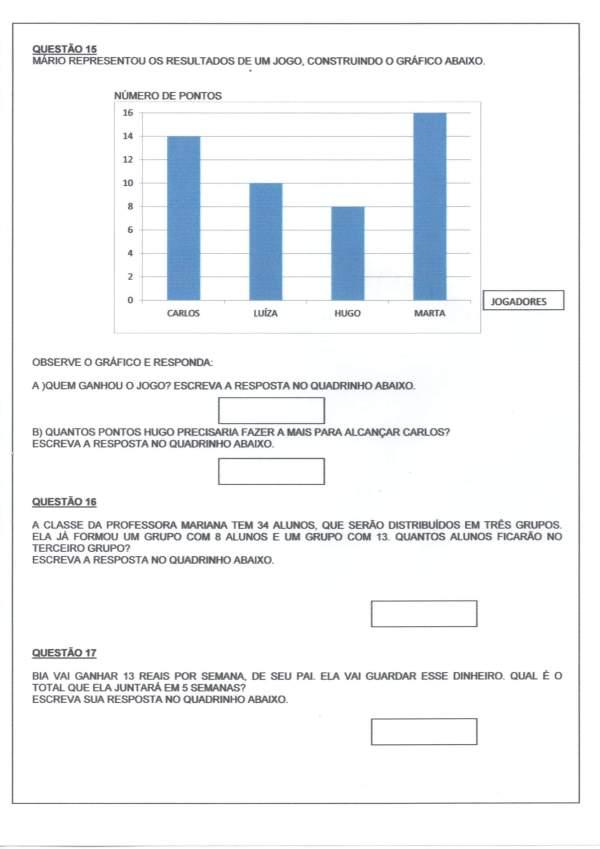 Avaliação Matemática-Gráficos Sistema Monetário Tabelas-Folha 1