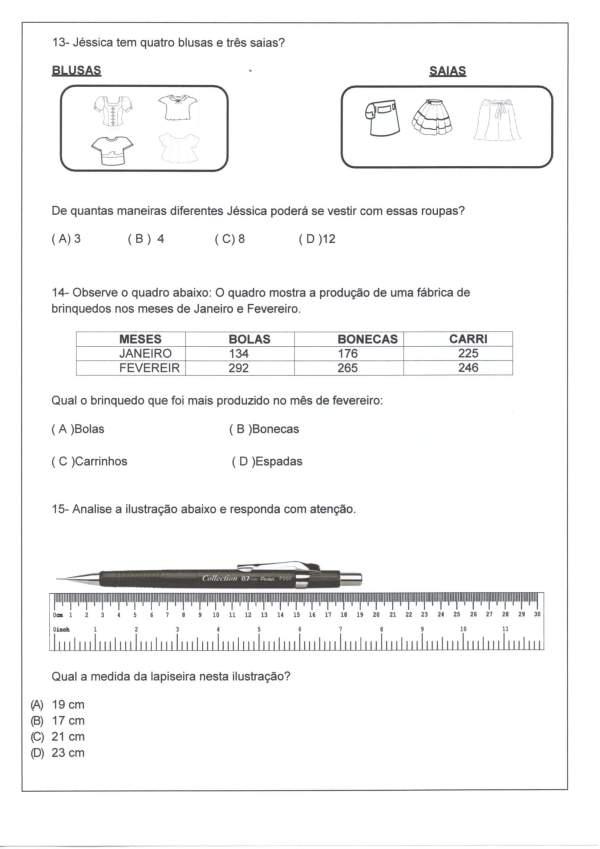 Avaliação Matemática-Sequência-Decomposição-Parte 3-Folha 5