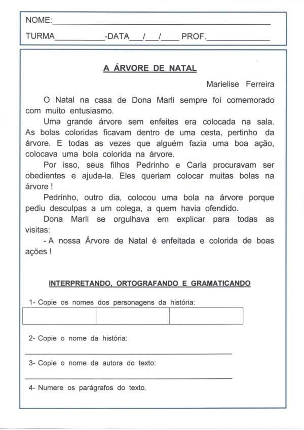Avaliação de Língua Portuguesa-Encontros Consonantais-Folha 1