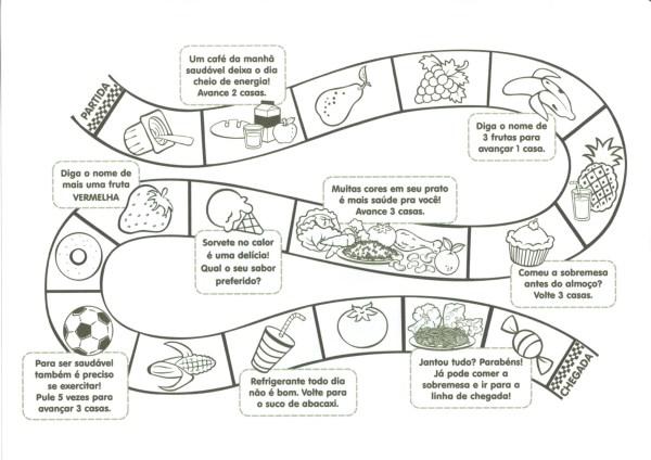 Jogo da Trilha-Alimentação Saudável