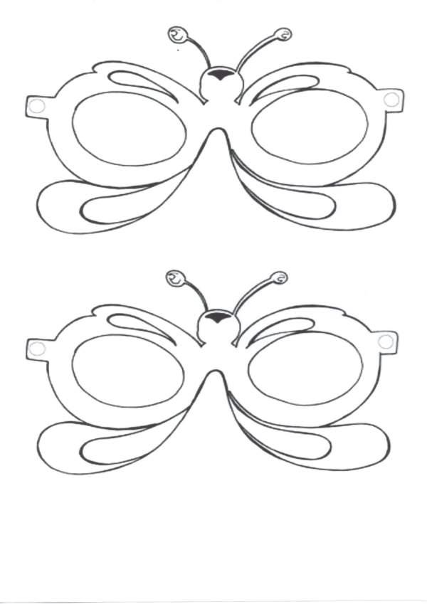 Máscara de Carnaval-Pinte e recorte as máscaras
