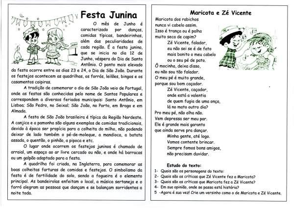 Festa Junina-Música e Interpretação