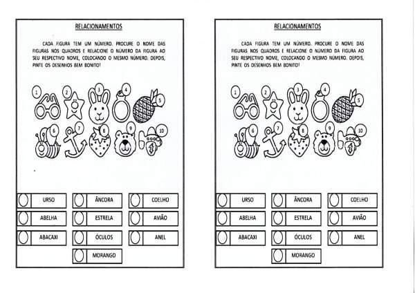 Atividade de Leitura-Figuras e palavras