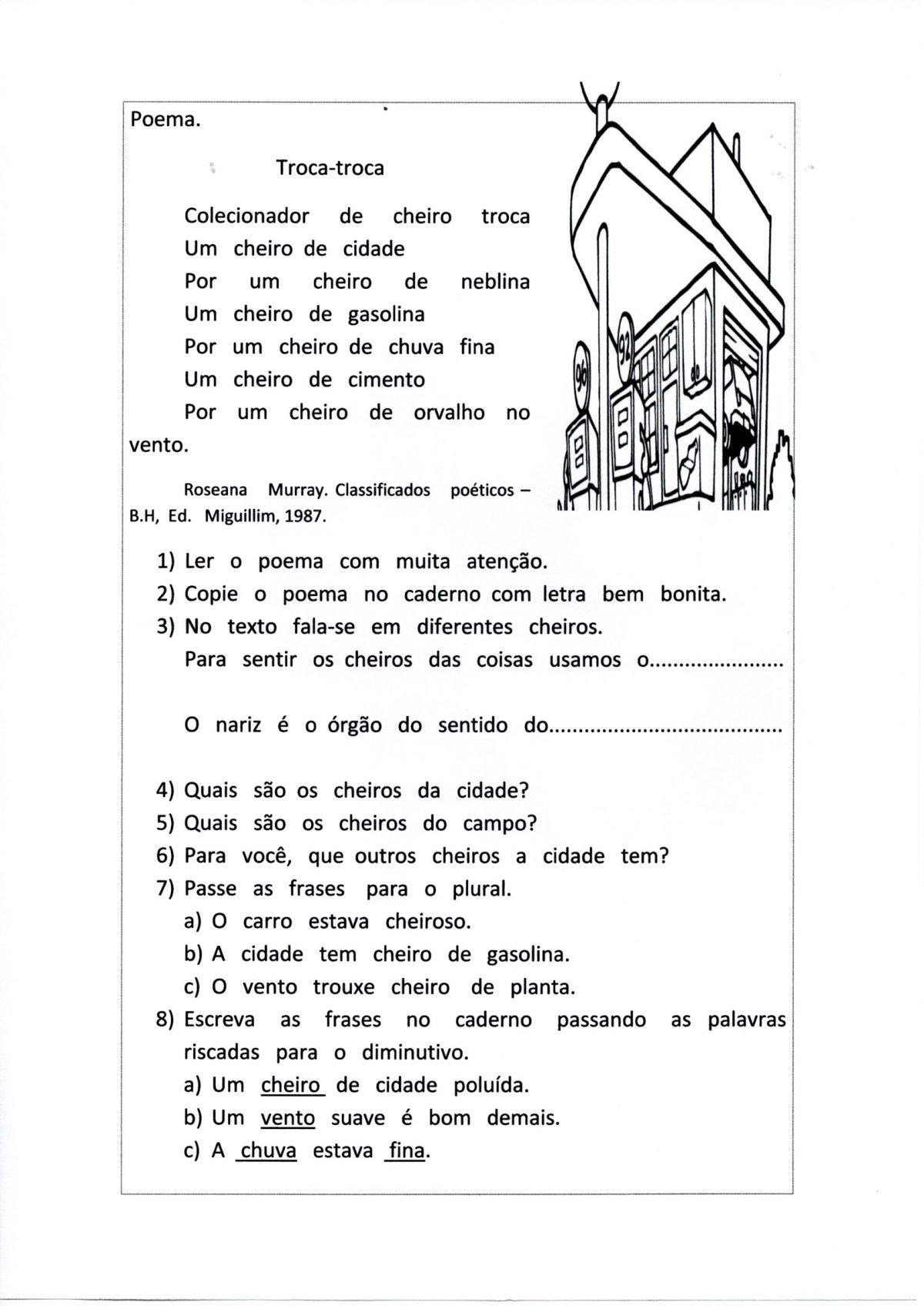 Poema Órgãos dos sentidos-Acróstico com CH e X