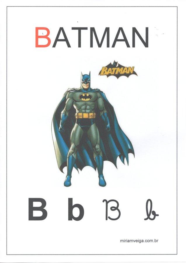 Alfabeto para parede-Filmes com ABCD-Letra B